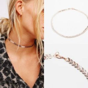 Free people for eternity rose gold tone choker